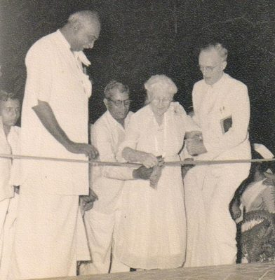 Aunt Ida, Dr. Carman and Chief Minister of Tamil Nadu, Kamaraj
