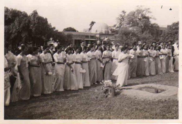 Final Year-1960 , College farewell - Sushila Viswanathan