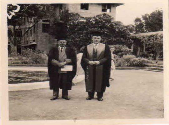 Grad Day -1961 --Dr Kutumbiah Chief Guest & Dr Brand -Principal