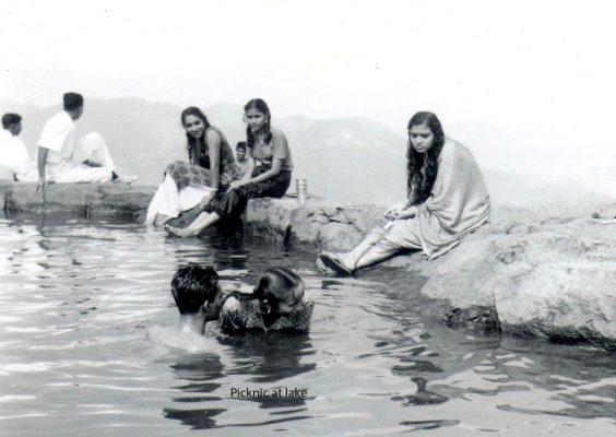 picnic and swimming